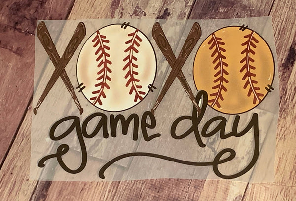 Game day Softball BasebalSplit Design HTV Heat Transfer Vinyl
