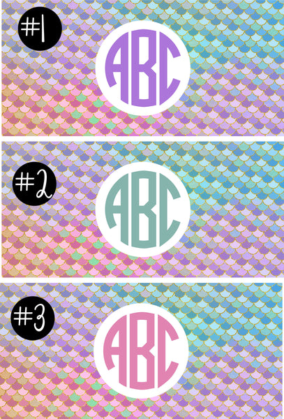 Mermaid Monogram Camp Decal.Girls Camp Trunk. Summer Camp Gear.