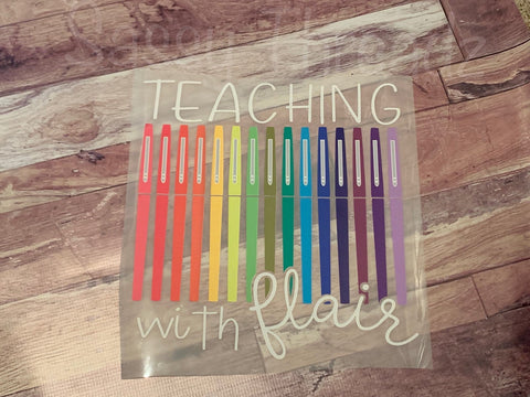 Teaching With Flair HTV Heat Transfer Vinyl