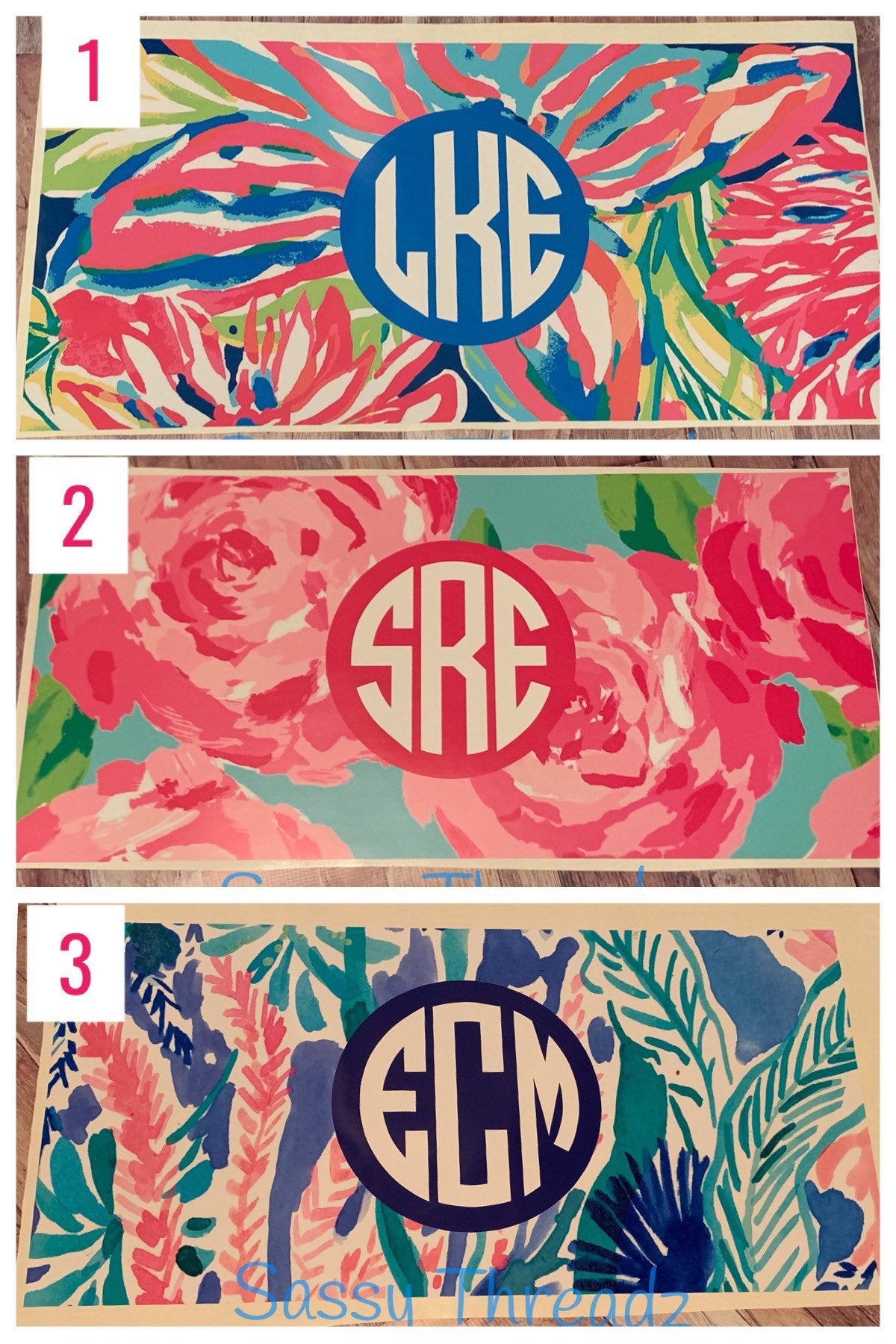 Lily Pulitzer Inspired Camp Monogram Decal.Girls Camp Trunk. Summer Camp Gear.