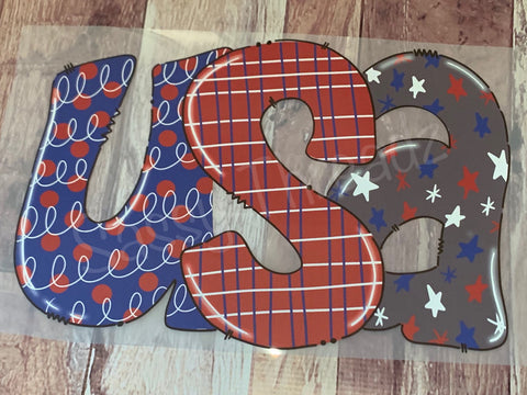 USA Patriotic 4th of July Heat Transfer Vinyl HTV