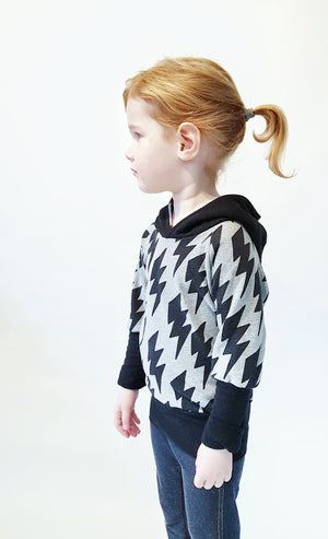 Organic Children's Hoodie made with GOTS certified organic sweater knit