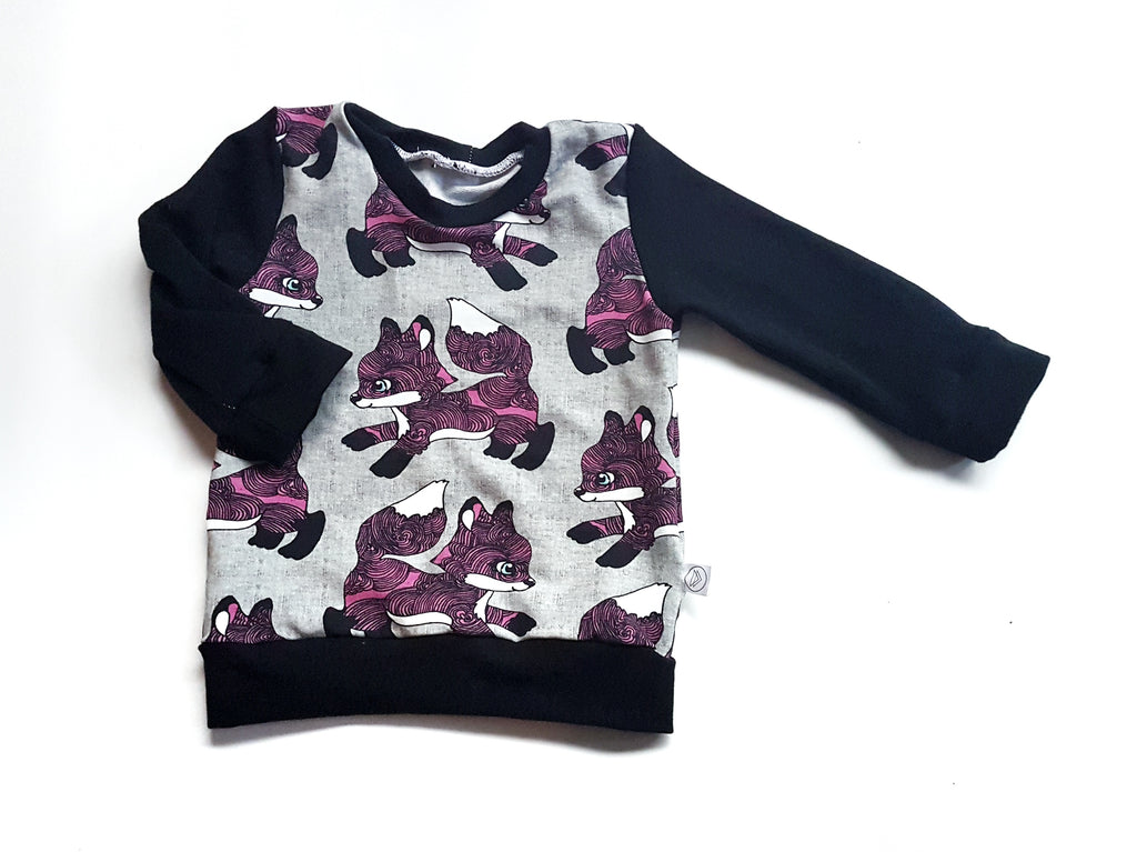 Long Sleeve Pullover | Pink Foxes