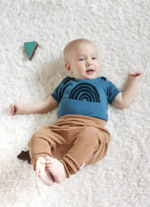 Baby Bodysuit | Retro Rainbow in Blue