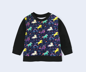 Organic Children's Pullover | Rainbow Unicorns