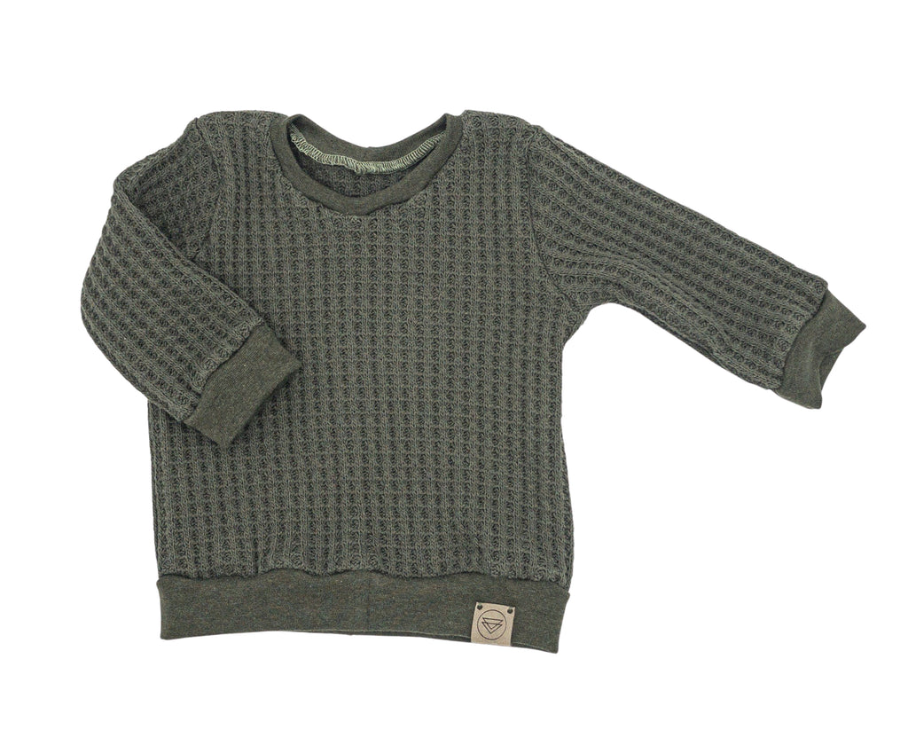 Waffle Knit Sweater | Earth Tones