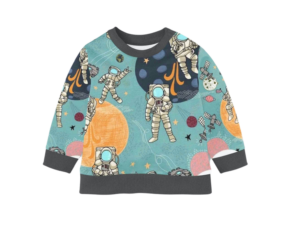 Organic Children's Pullover | Outer Space Long Sleeve Tee