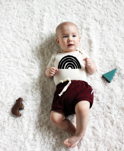 Baby Bodysuit | Retro Rainbow in Natural