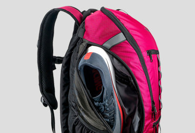 Mudroom Backpack External Shoe Pockets