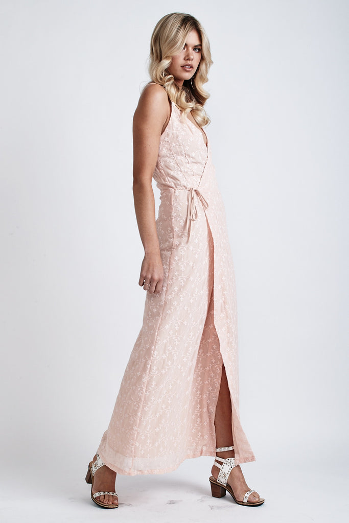 Melody Lace Wrap Maxi Dress Light Peach - Morrisday | The Label - 4
