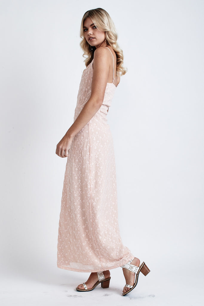Melody Lace Wrap Maxi Dress Light Peach - Morrisday | The Label - 5