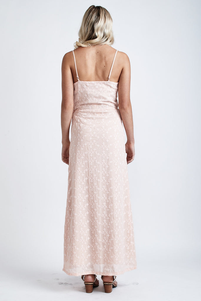 Melody Lace Wrap Maxi Dress Light Peach - Morrisday | The Label - 3