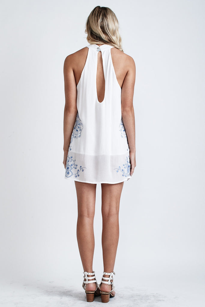 Secret Garden Embroidered Dress White/Blue - Morrisday | The Label - 6