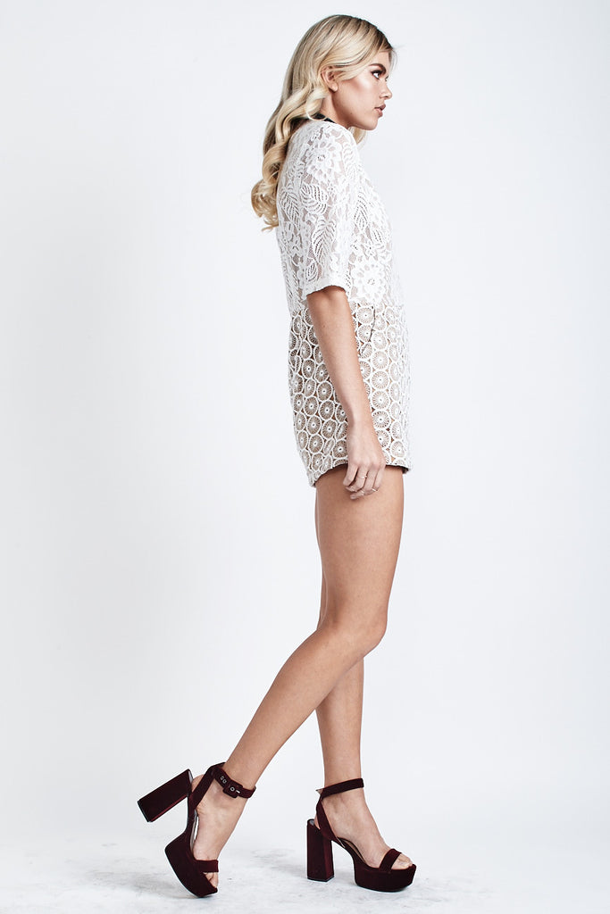 Bella Lace Playsuit White - Morrisday | The Label - 4