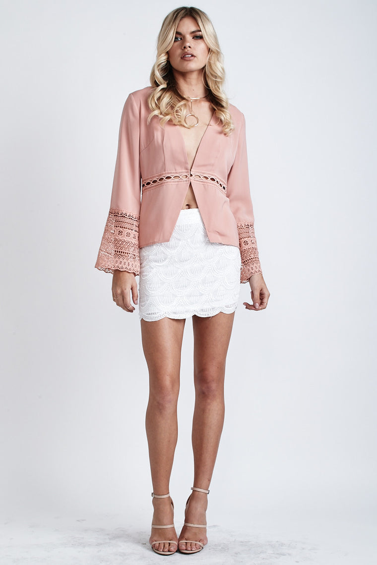 Willow Long Sleeve Top Nude - Morrisday | The Label - 1
