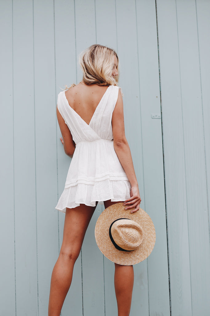 Wild Heart Mini Dress White
