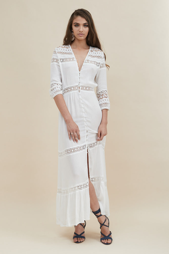 Gypsy Light Maxi Dress - White - Morrisday | The Label - 4
