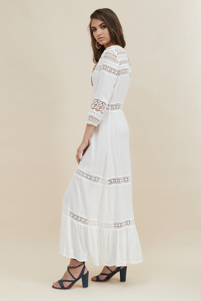 Gypsy Light Maxi Dress - White - Morrisday | The Label - 6