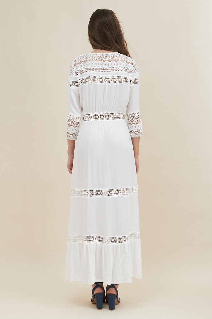 Gypsy Light Maxi Dress - White - Morrisday | The Label - 7
