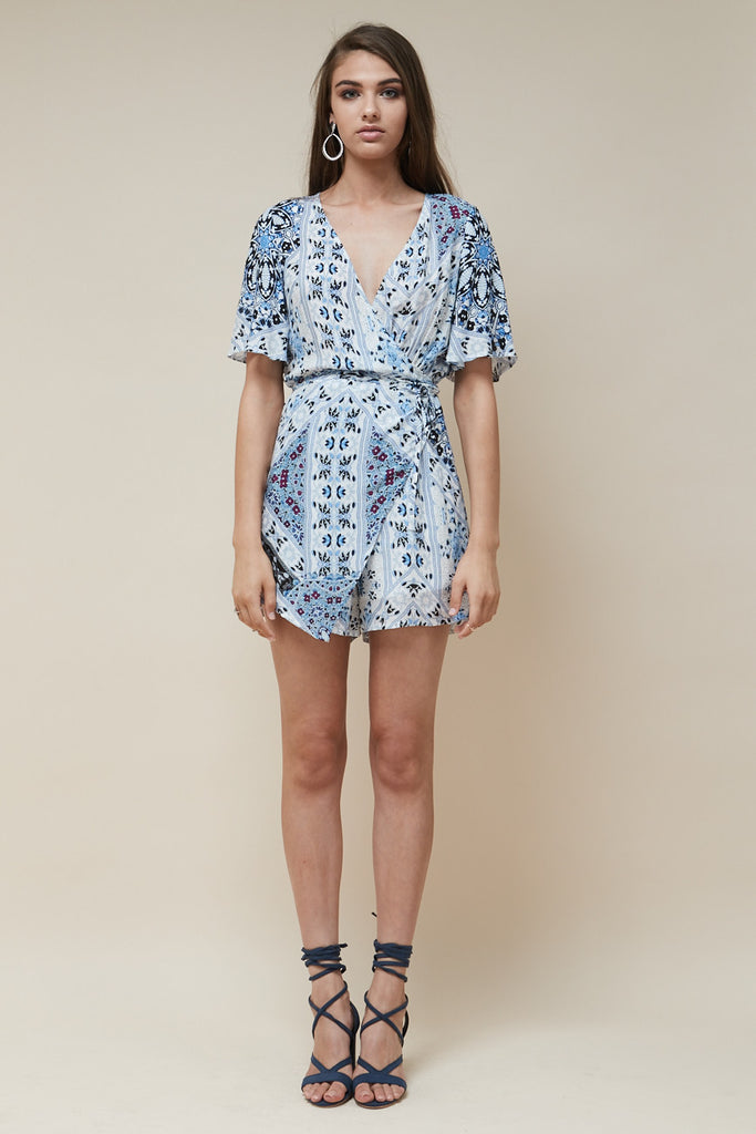 Sea Jewel Wrap Playsuit - Morrisday | The Label - 2