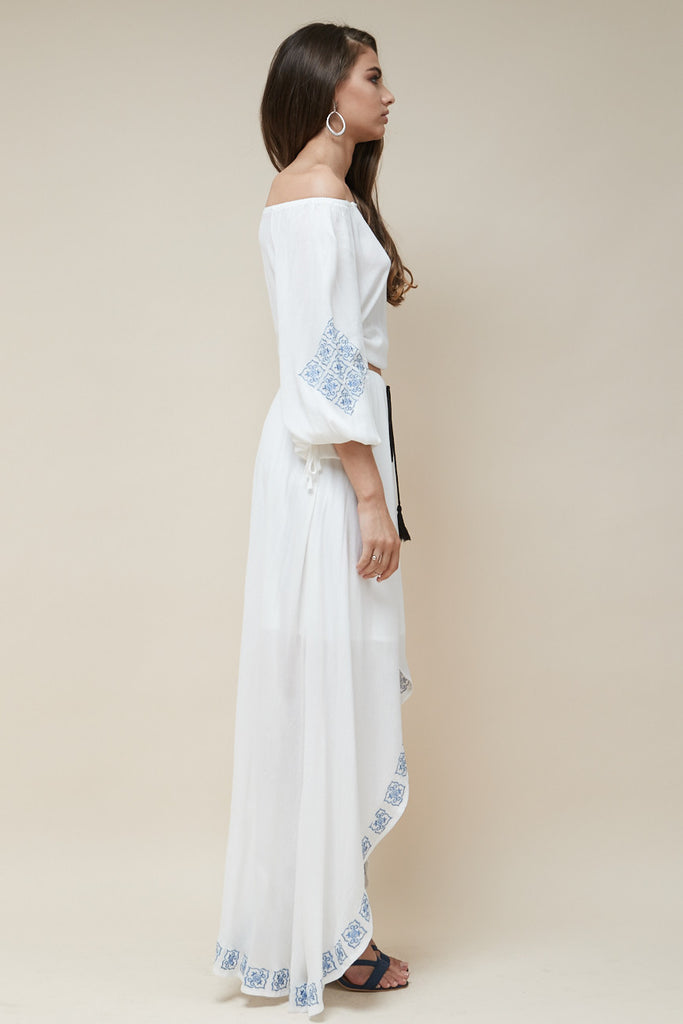 Mykonos Embroidered Maxi Skirt - Morrisday | The Label - 2