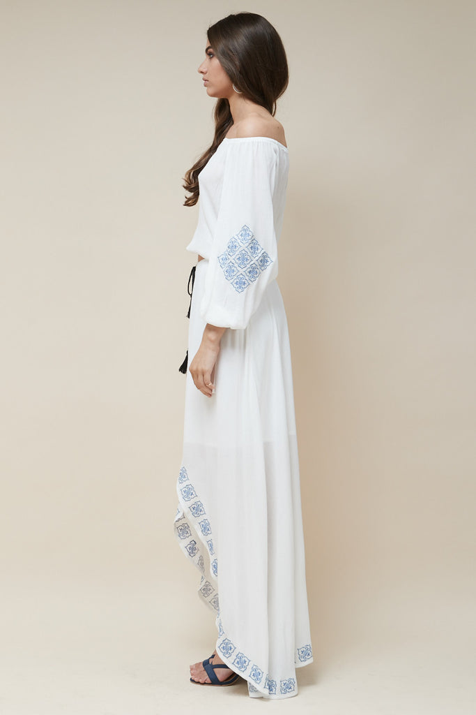 Mykonos Embroidered Maxi Skirt - Morrisday | The Label - 3