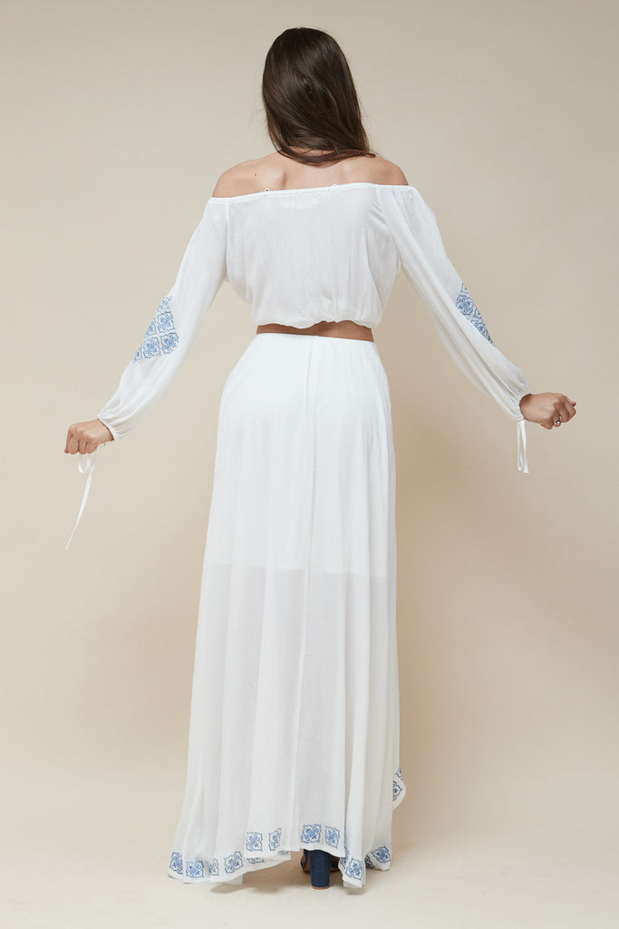 Mykonos Embroidered Maxi Skirt - Morrisday | The Label - 4