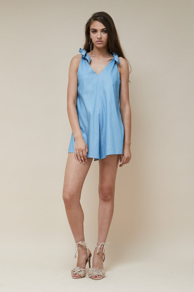 Indigo Playsuit Chambray - Morrisday | The Label - 2
