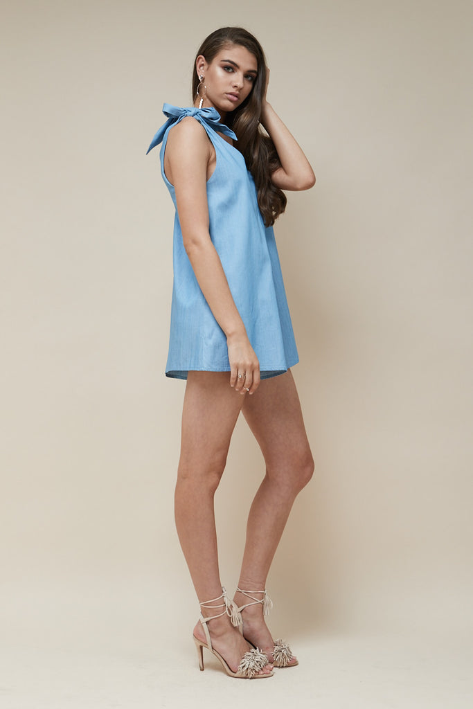 Indigo Playsuit Chambray - Morrisday | The Label - 3