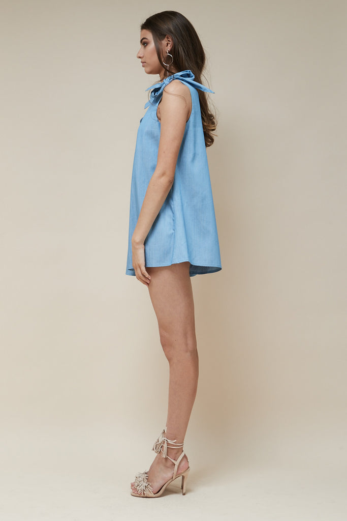 Indigo Playsuit Chambray - Morrisday | The Label - 4