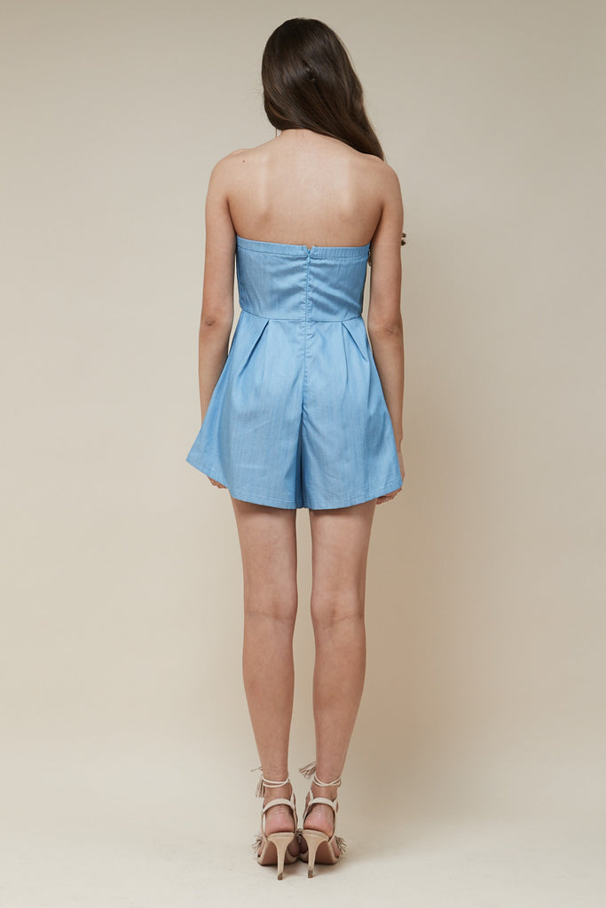 Sweetheart Playsuit Chambray - Morrisday | The Label - 6