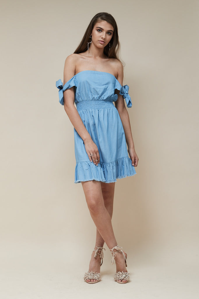 Indie Mini Dress Chambray - Morrisday | The Label - 2