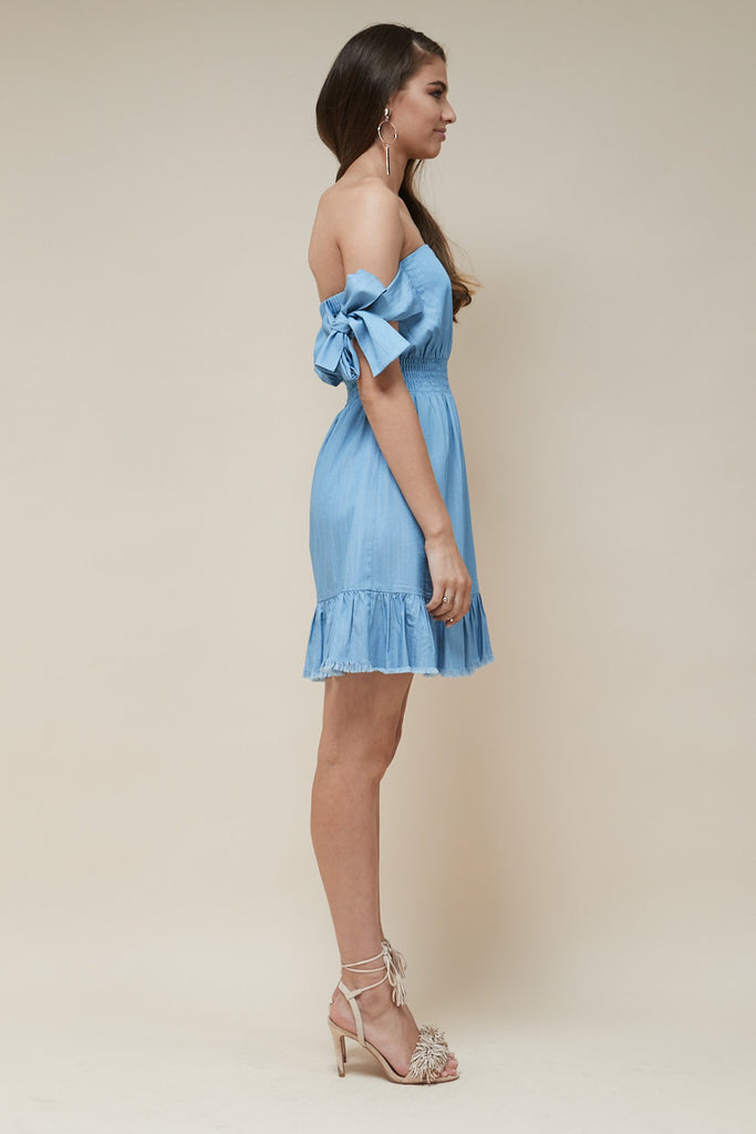 Indie Mini Dress Chambray - Morrisday | The Label - 3