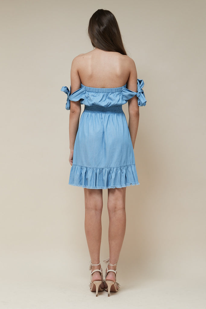 Indie Mini Dress Chambray - Morrisday | The Label - 5