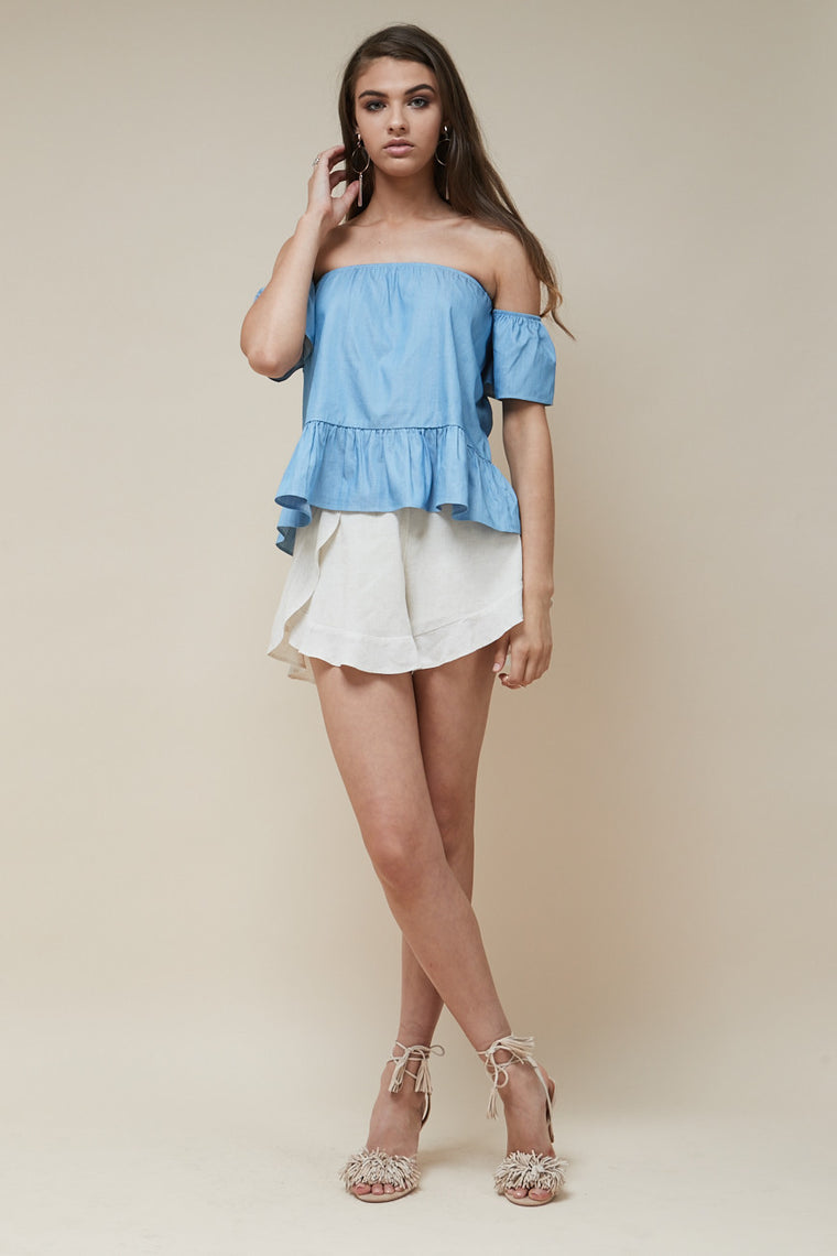 Sweet Nothing Top Chambray - Morrisday | The Label - 1