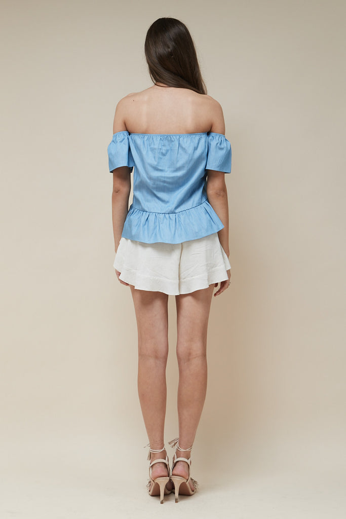 Sweet Nothing Top Chambray - Morrisday | The Label - 5