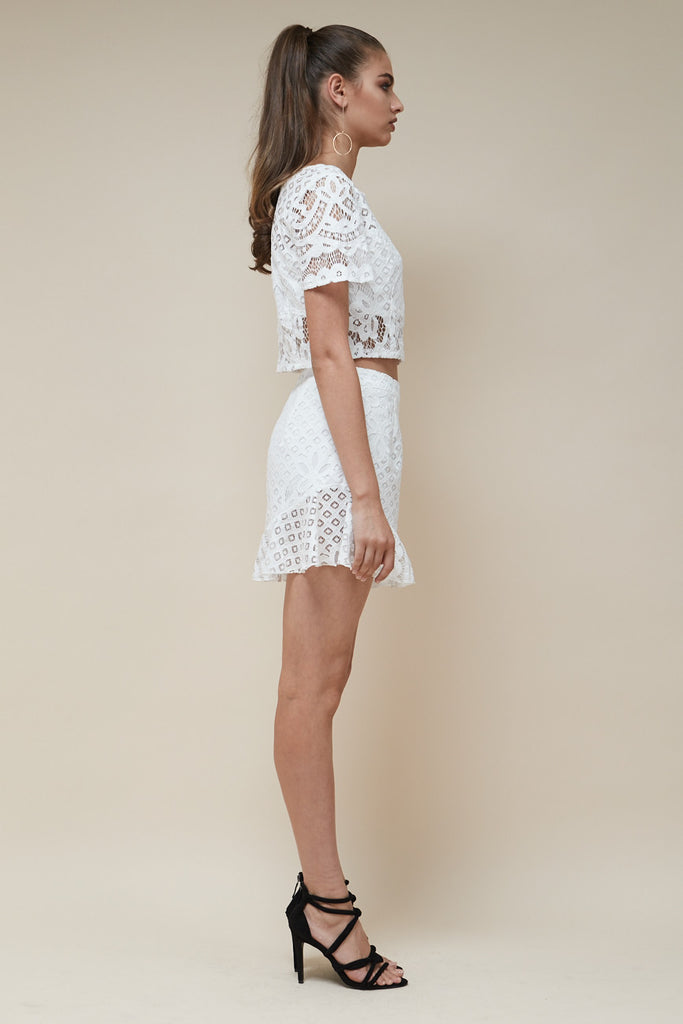 Zoe Lace Ruffle Shorts - Morrisday | The Label - 2