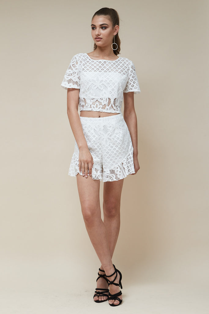 Zoe Lace Ruffle Shorts - Morrisday | The Label - 6