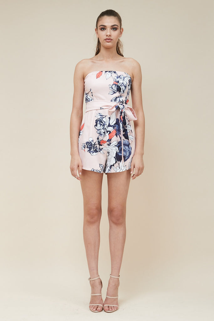 Odyssey Strapless Playsuit - Peach - Morrisday | The Label - 3