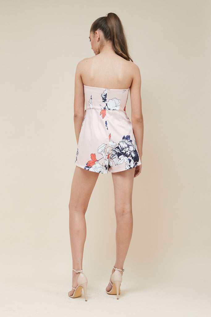 Odyssey Strapless Playsuit - Peach - Morrisday | The Label - 6