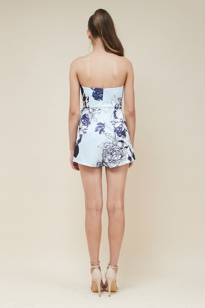 Odyssey Strapless Playsuit - Blue - Morrisday | The Label - 5