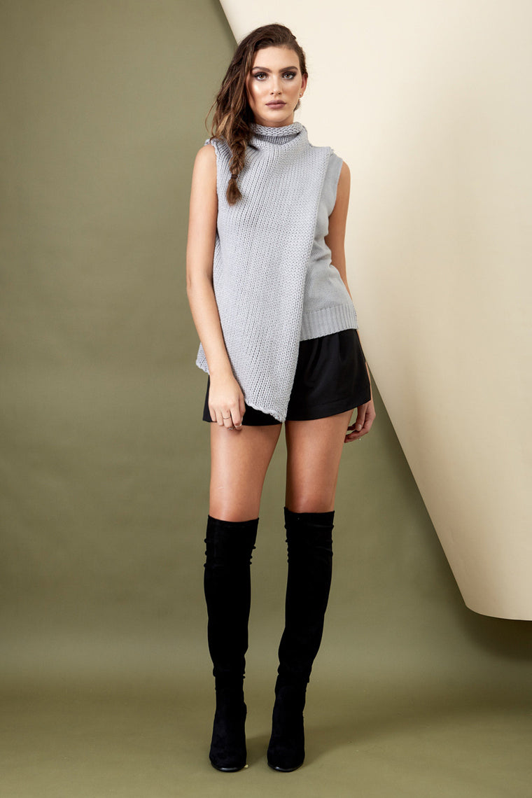 Wanderer Knit Top Grey - Morrisday | The Label - 1