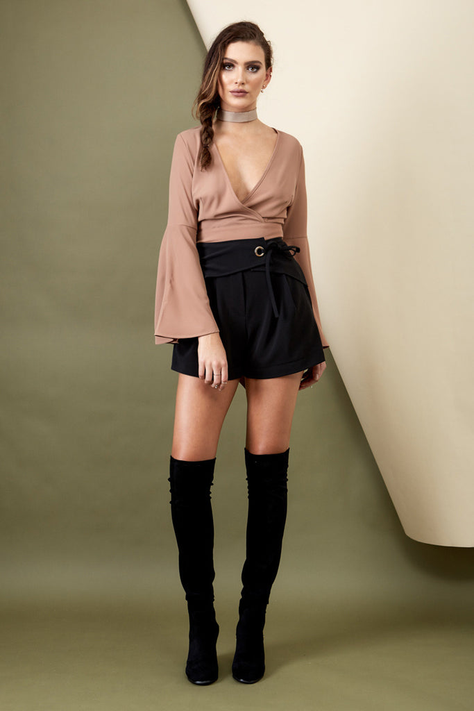 Runway Bell Sleeve Top Mocha - Morrisday | The Label - 1