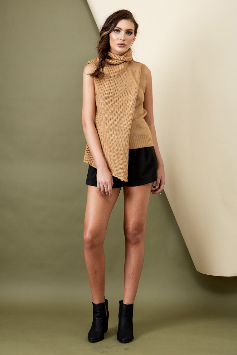 Wanderer Knit Top Camel - Morrisday | The Label - 1