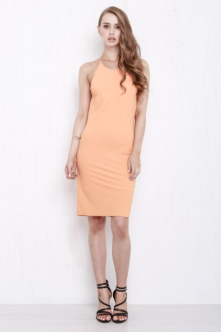 Cross My Heart Dress Tangerine - Morrisday | The Label - 1
