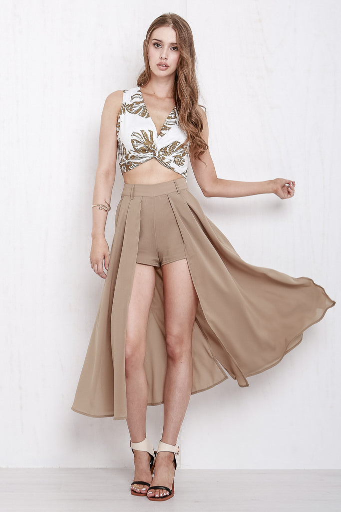 Midnight In Paris Maxi Skort Mocha - Morrisday | The Label - 4