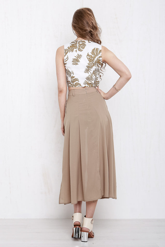Midnight In Paris Maxi Skort Mocha - Morrisday | The Label - 5