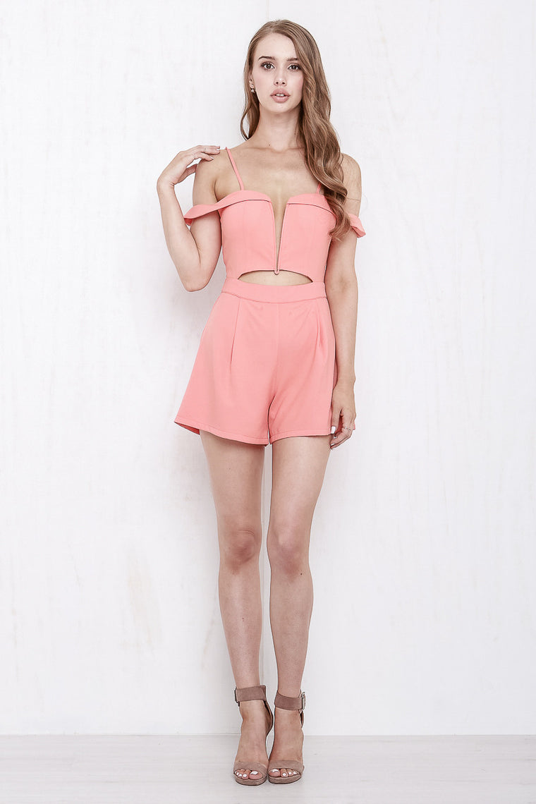 California Playsuit Coral - Morrisday | The Label - 1