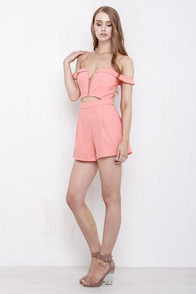 California Playsuit Coral - Morrisday | The Label - 4