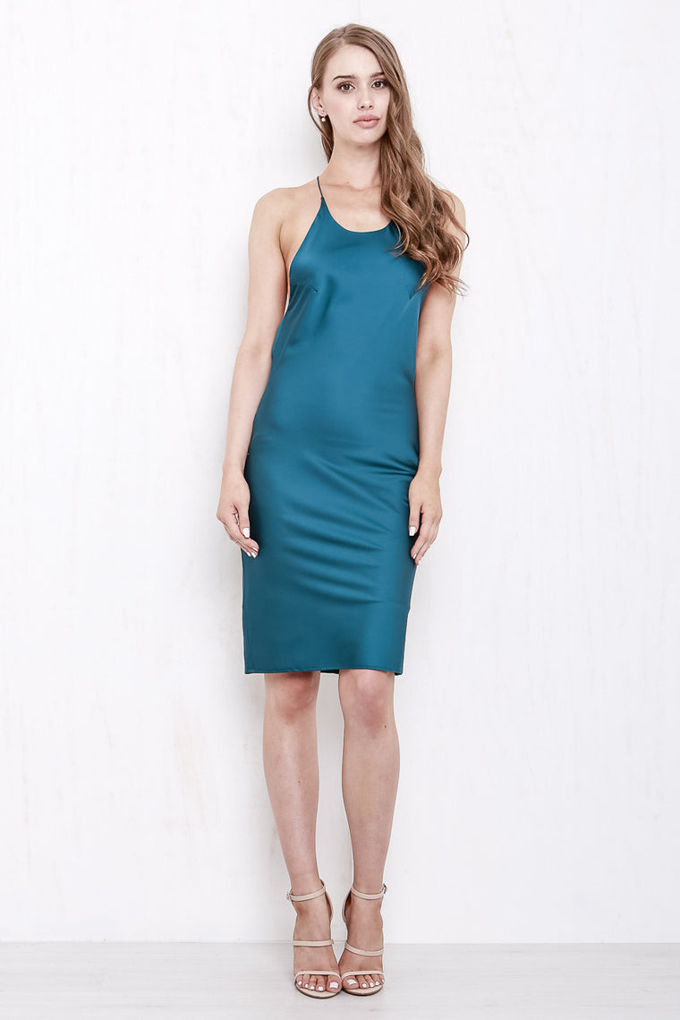 Cross My Heart Dress Shimmering Teal - Morrisday | The Label - 1